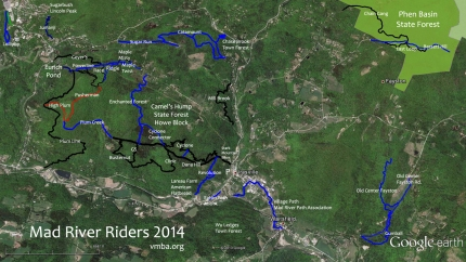 Mad River Riders Center Valley Trail Map 2014