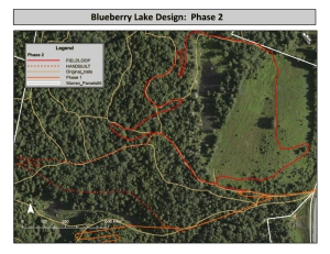 Blueberry Lake Phase 2. Official Groundbreaking on June 8th, National Trails Day 2014!
