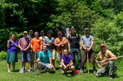 VMBA Trailbuilding School 2014, led by Sinuosity.